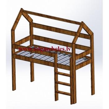 Pusaugstā gulta RPR-30