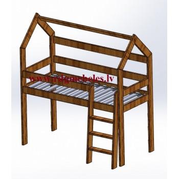 Pusaugstā gulta RPR-31