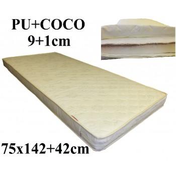 Porolona matracis ar Kokosu 75x142+42 (9+1)