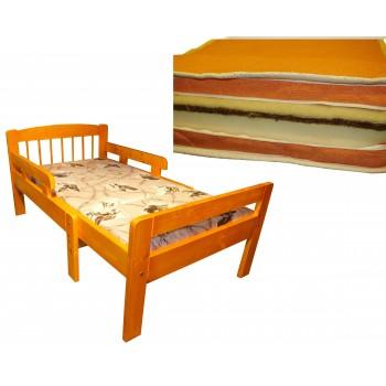 Pagarināmā gulta LINDEN 5011-M ar matraci PU+Kokoss